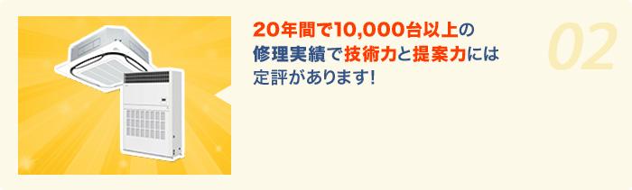 10,000台以上の修理実績! 技術と提案力には定評があります!